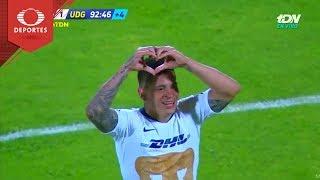 Gol de Iturbe | Pumas 2 - 1 U. de G. | Copa Mx - J6 - Cl 19 | Televisa Deportes