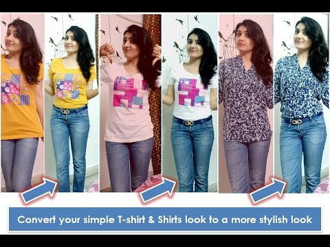 f4e1b284 How to wear loose & uncool T-shirts or shirts in a way to give it a ...