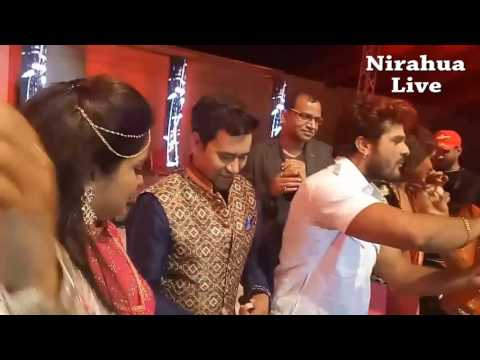 Khesari Lal Yadav Birthday Celebration on Stage at Doha Qatar