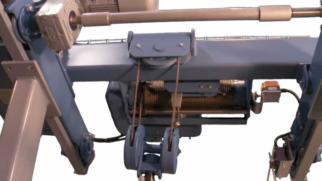 CM Type Electric Wire Rope Hoists - YouTube