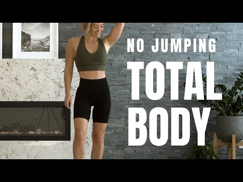 LOW IMPACT // Total Body HIIT Workout with Weights (No Jumping)