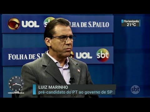Luiz Marinho comenta greve dos caminhoneiros durante sabatina | SBT Brasil (28/05/18)