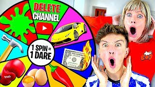 Spinning a MYSTERY Wheel & Doing Whatever it Lands on - Challenge Video