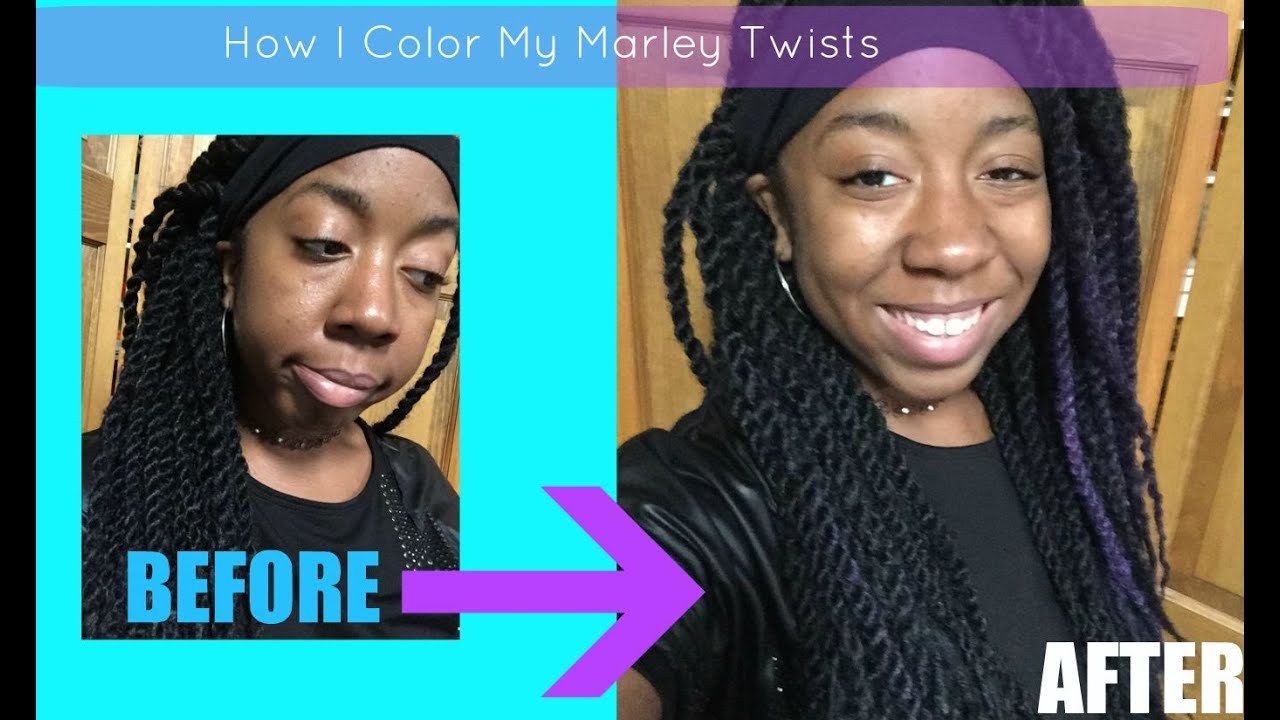Our Little Secret: How to Temporarily Dye / Color Marley Twists ...