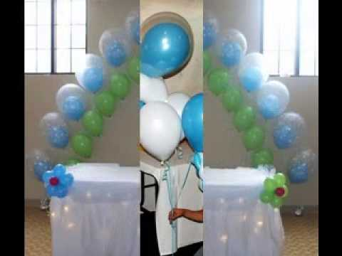 Simple baby shower balloon decor ideas youtube for Balloon decoration ideas youtube