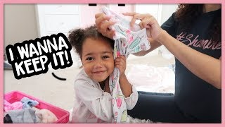 Getting Rid of All Her Clothes & Toys! | Clean With Me!