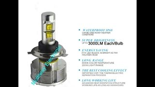 60w 6000lm h4 hb2 9003 cree led bulbs hi low
