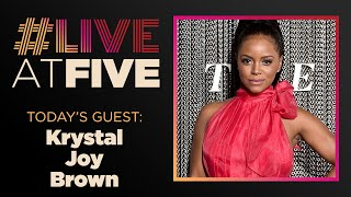 Broadway.com #LiveatFive with Krystal Joy Brown of HAMILTON