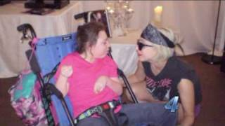 Lady Gaga Meeting Girl Has Cerebral Palsy backstage at a concert