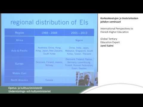 International Perspectives to Finnish Higher Education, Global Tertiary Education Expert Jamil Salmi