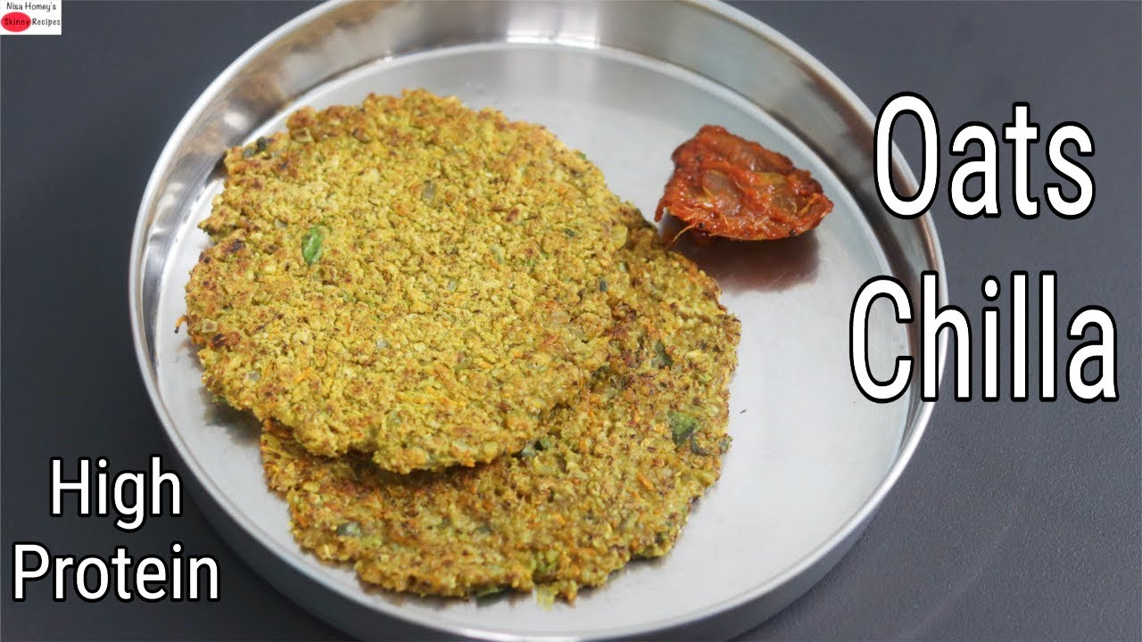 High Protein Oats Chilla - PCOS/Thyroid Weight Loss - Oats Recipe For Weight Loss | Skinny Recipes