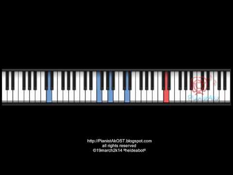 PianistAkOST tutorial: you who came from the stars ost - TEARS IN MINUET piano
