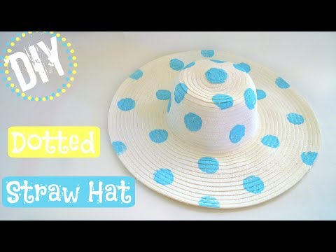 DIY Summer Dotted Straw Hat