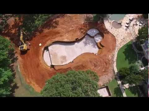 pool excavation drone shots