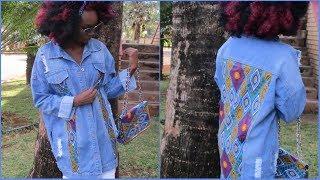 DIY-Denim Jacket with African Print-Ankara