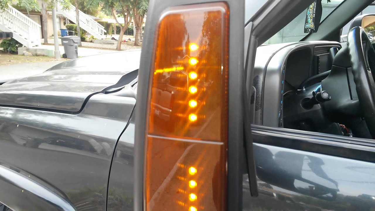 Led Tow Mirrors Silverado 03 06 Youtube