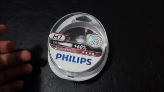 Philips Vision Plus +60% vs standard H7 car bulbs