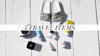 7 PRODUCTS I ALWAYS TRAVEL WITH | Samantha maria