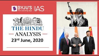 'The Hindu' Analysis for 23rd June, 2020. (Current Affairs for UPSC/IAS)