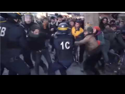 Police's brutality in france violant arrests!Violence de la