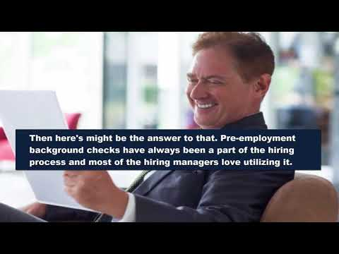 Pre employment Background Checks  Why Hiring Managers Love Using it in the Hiring Process