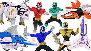 Power Rangers Super Samurai Zord TigerZord, SwordfishZord! Go! #DuDuPopTOY
