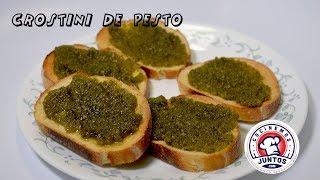 Crostini de pesto - Receta de botanas