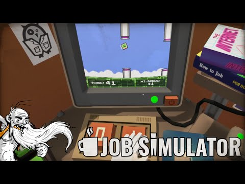"""FLAPPY BOT WORLD CHAMPION!!!""  Job Simulator Office HTC Vive Virtual Reality (VR) Game!"