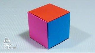 #Оригами: #кубик из бумаги