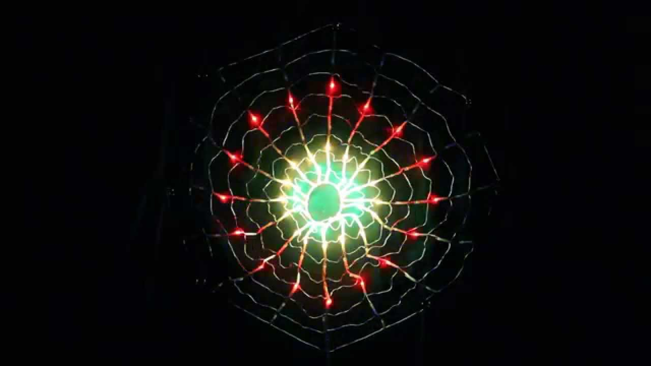 128 Led Multi Colour Circle Net Christmas Lights With Spider Web Function 75cm