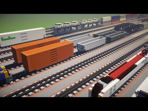 Minecraft Freight Railcars Train Tutorial