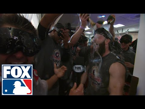 Nick Swisher interviews champagne soaked Dallas Keuchel | 2017 MLB Playoffs | FOX MLB