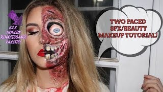 TWO FACED SFX/BEAUTY MAKEUP TUTORIAL l Glamorousmassacre