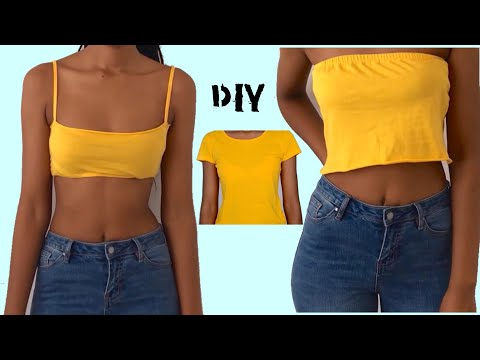 TRANSFORM a $2 T-shirt INTO TWO TOPS