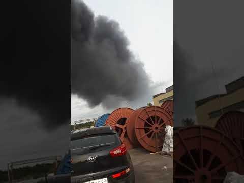 Пожар в г пскове на битумном складе