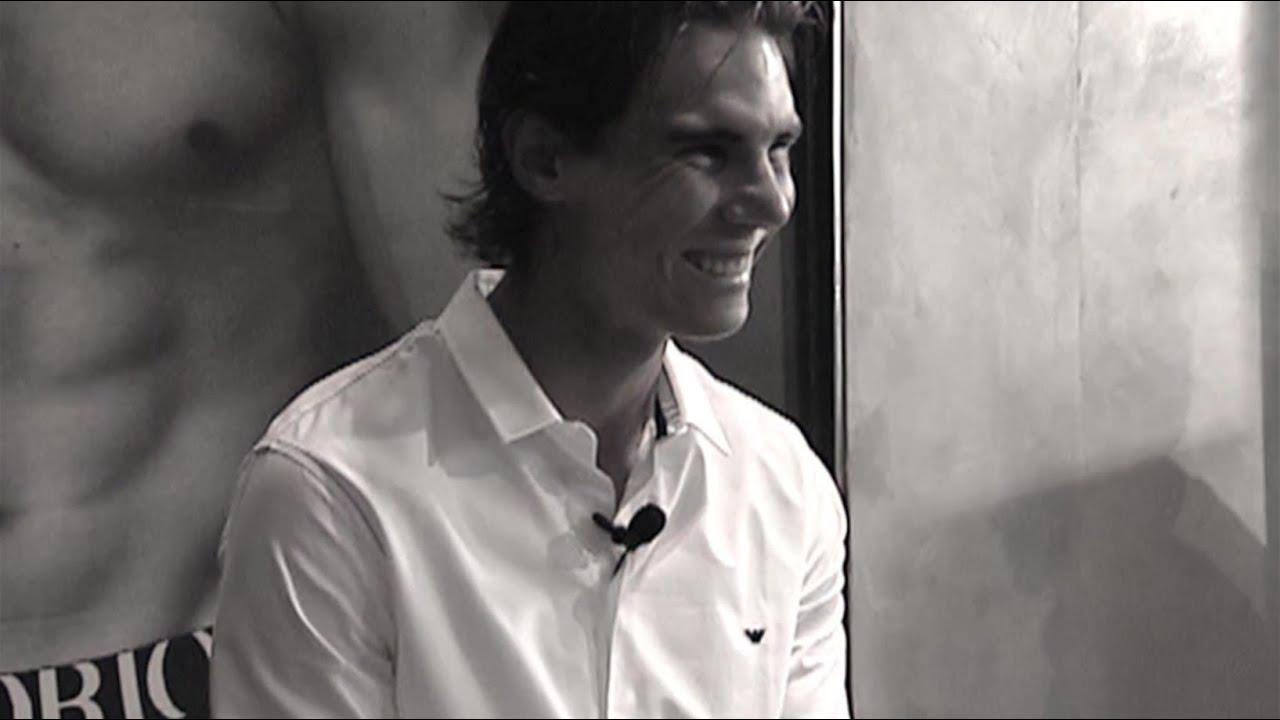 Emporio Armani - Rafael Nadal with fans in Paris