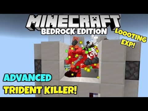minecraft-bedrock:-advanced-trident-killer!-afk-exp-and-looting!-village-and-pillage-update