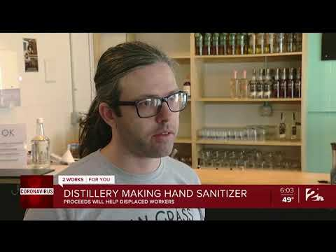 wine article Distillery Making Hand Sanitizer