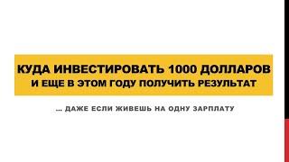 Куда инвестировать 1000 долларов? / Юрий Гава