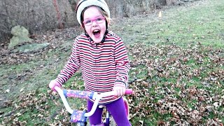 🚴First BIKE Ride without Training Wheels!
