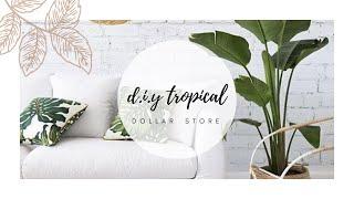 DIY DOLLAR STORE TROPICAL ROOM DECOR