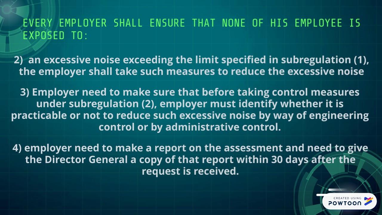 noise exposure regulations 2019