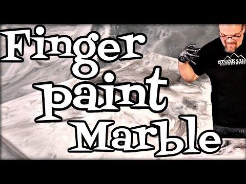 Finger Paint Marble