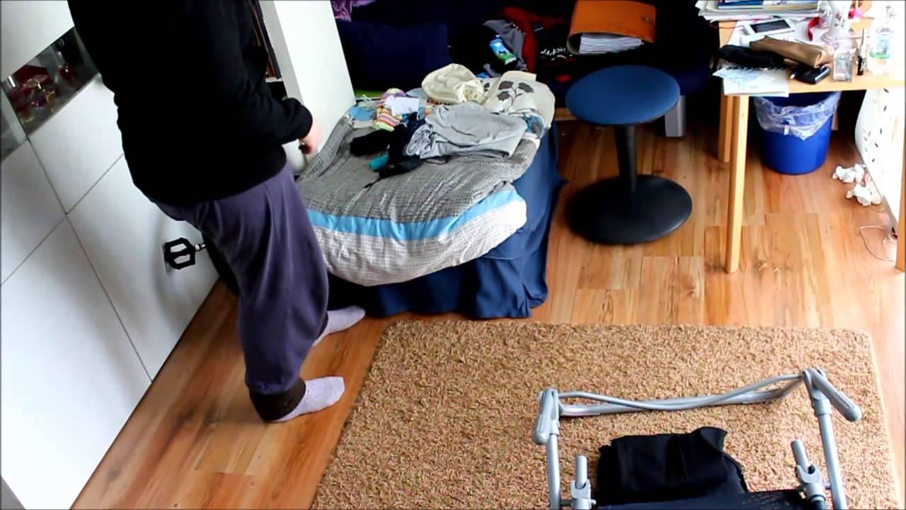 zimmer aufr umen schnell und teilweise schmerzhaft youtube. Black Bedroom Furniture Sets. Home Design Ideas