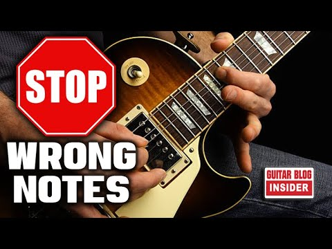 GUITARISTS: Want to Reduce Wrong Notes? Here's How!