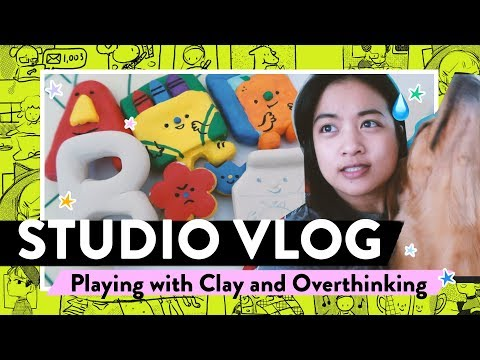 STUDIO VLOG #22 / R&R and Playing with Polymer Clay