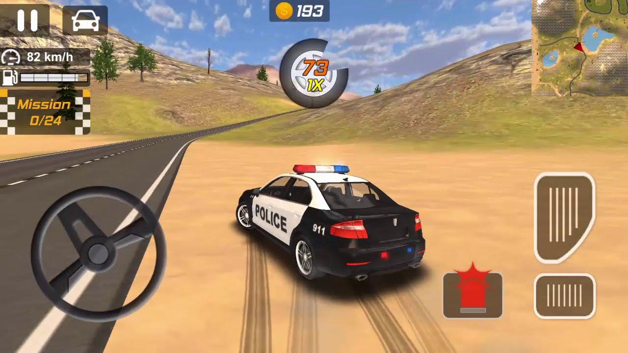 Polis Arabasi Oyunlari Direksiyonlu Araba Oyunlari Araba