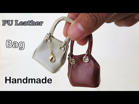 DIY Realistic Miniature  Bags -  No Polymer Clay  -  easy Miniature crafts
