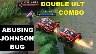 Abuse Johnson Bug To Do Double Ultimate Combo (Twice Car Attack) - Mobile Legends