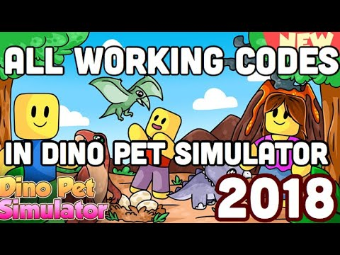 *ALL* WORKING CODES! October 2018 - Dino Pet Simulator (ROBLOX)